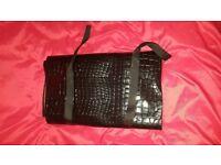Crocodile Leather Design Case black