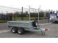 8'x 5' NEW GALVANISED BUILDERS FLATBED TRAILERS LED LIGHTS. DROPSIDES & MESHSIDES AVAILABLE