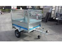 NEW 5x3 MAYPOLE GALVANISED TRAILER WITH MESHSIDES