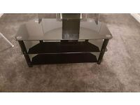 Currys black glass tv stand