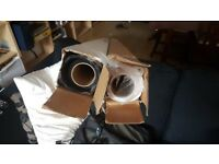 Black Photography Paper Backdrop (2.72m x 11m) - Used Once!
