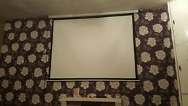 Motorized Projector screen and projector
