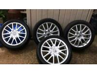 "VW Golf MK5 Classic Alloy Wheels 17"""