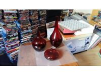 Collection Of Ornamental Glass Vases For Sale