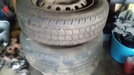 van wheels and tyres commercial C from a vivaro/trafic/primastar size 205 x 16 full set