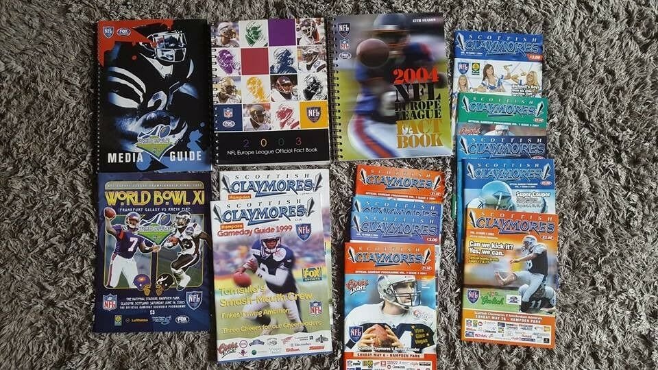 Scottish Claymores American Football Programmes and Books