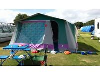 Large family canvas tent