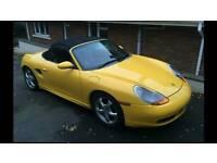 2001 Porsche boxster 2.7 speed yellow very high spec