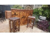 solid wood guinnes garden bar got one ready to go now bar stools sold separately