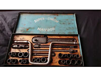 Vintage Matador Super Chrome socket set tool box from 1923 made in Germany