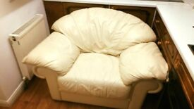 Big Armchair LEATHER white