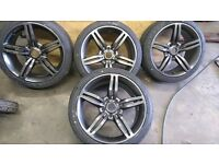 "BMW 18"" ALLOYS,225,40,18 BRAND NEW TYRES,JUST REPAINTED"