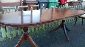 Regency dining table,mahogany,160-215CM,extendable,good condition