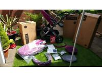 Stokke Trailz Purple Classic Pushchair & CarryCot / 2in1 brand new