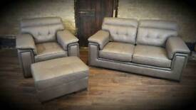 2 seater sofa armchair and footstool