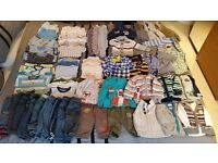 MASSIVE 6-9 MONTHS BABY CLOTHES BUNDLE EXCELLENT CONDITION OVER 60 ITEMS!