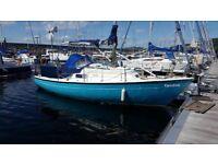Van de Stadt 28ft Kendra ( yacht fin keel sailing boat) including mooring