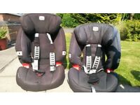 2 x Black Britax Evolva Car Seats 123 PLUS 9-36kg (~ 9mnths-11yrs) CAN SELL INDIVIDUALLY (£30 EACH)