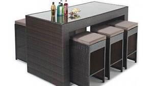 Brand New Wicker Rattan Outdoor Bar Set 7 pieces Auburn Auburn Area Preview