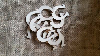 Wooden Horse Shoe Shapes x 30