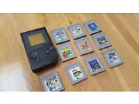Gameboy DMG-01 zelda mario tetris joblot bundle 10 games