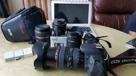 Canon 700d with 4 lens