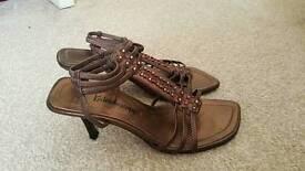 Size 4 bronze shoes
