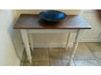 Wooden side table perfect for smaller spaces - shabby chic, vintage