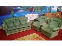 3 piece green fabric suite