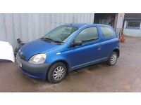 TOYOTA YARIS 2002 - BREAKING - ENGINE DOORS GEARBOX BUMPERS GLASS EXHAUST WHEELS