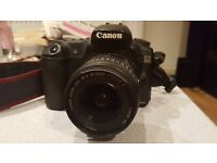 Canon EOS 20D camera with lens