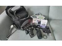 Canon eos slr 500d digital camera and accessories