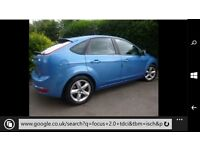 2009-58 ford focus 2.0tdci zetec blue 113k miles history long mot tax cheap diesel @ £1695