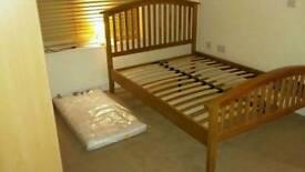 single bed, solid oak, like new