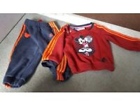 Mickey mouse adidas tracksuit 6-9months