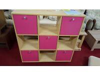 x5 Kidspace Miami 3 x 3 Cube Storage and Shelf Unit brand new