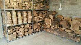Elm wood (burr and wych) suitable for Woodturning, carving etc