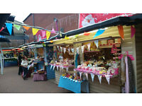 Retail market stall to let-£5 a day