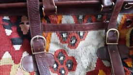Large Used Kilim Travel Bag