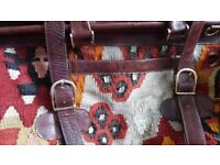 Large Used Kilim Travel Bag