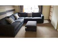 Large 4x4 corner suite and storage foot stool
