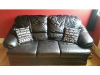 black leather sofa 3 seater and 1 chair can deliver £110 blackpool.
