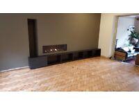 Reclaimed solid wooden parquet flooring