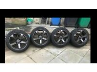 Cruise Blade Alloy Wheels With Good Tyres ... (Two New) To Fit Vauxhall Insignia