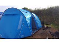 5 man tent vango metis 500 used once bright blue