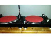 Pioneer PLX-500 (Pair) (Inc. Boxes, Deck Savers & Dr. Suzuki Slipmats)