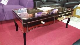 Renee Mirrored Coffee Table rose gold new