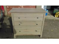 large ikea pine chest of drawers - free delivery
