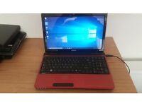 Bargain Beautiful Toshiba Dual Core Windows 10 Laptop £145