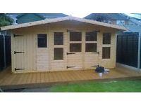 Custom sheds- We make summerhouses and sheds to size